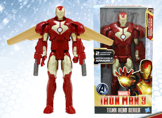Iron Man 3 - Hasbro Action Figure 16 Inch - Titan Iron Man (Wing Attack Edition) - ¥1,740